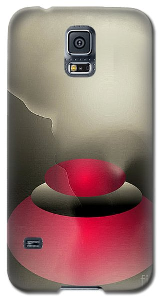 Galaxy S5 Case featuring the digital art The Button--  Something To Think About by John Krakora