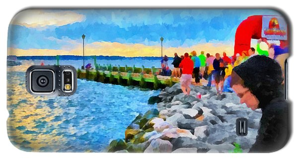 Galaxy S5 Case featuring the digital art The Calm Before The Race by Digital Photographic Arts