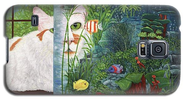 The Cat Aquatic Galaxy S5 Case