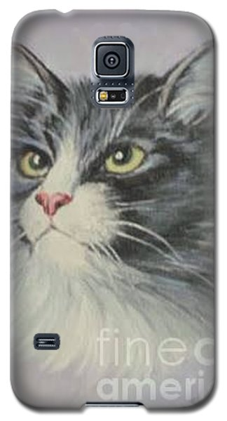 Galaxy S5 Case featuring the painting The Cat by Sorin Apostolescu