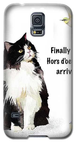 Galaxy S5 Case featuring the painting The Cat's Hors D'oeuvres by Colleen Taylor