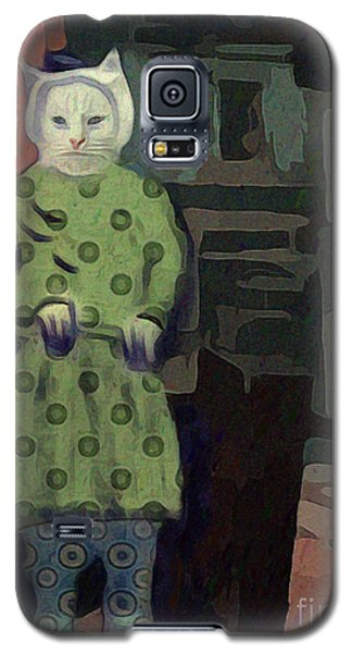 Galaxy S5 Case featuring the digital art The Cat's Pajamas by Alexis Rotella