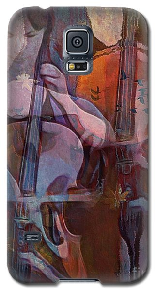 Galaxy S5 Case featuring the digital art The Cellist by Alexis Rotella