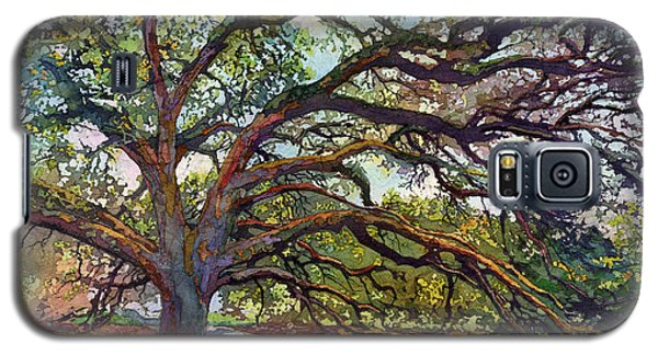 Galaxy S5 Case featuring the painting The Century Oak by Hailey E Herrera