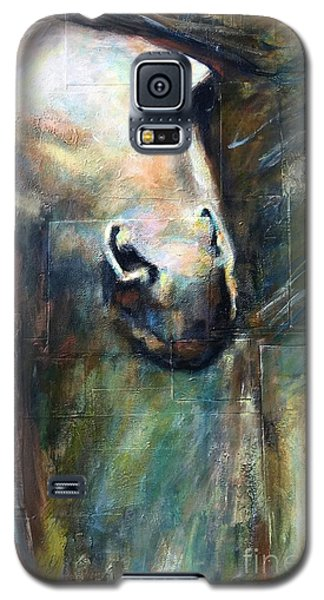 Galaxy S5 Case featuring the painting The Chameleon  by Frances Marino