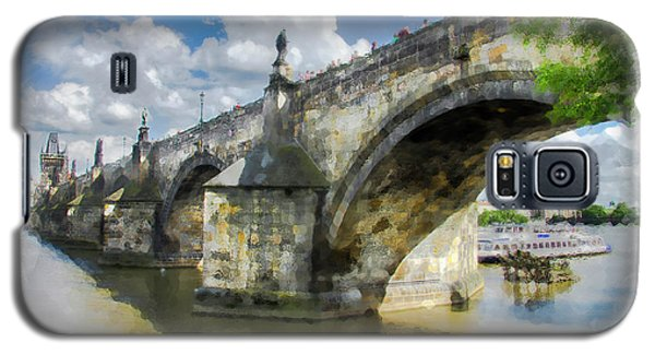 Galaxy S5 Case featuring the photograph The Charles Bridge - Prague by Tom Cameron