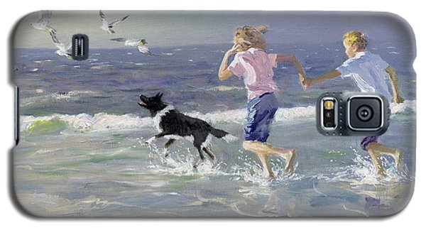 Seagull Galaxy S5 Case - The Chase by William Ireland