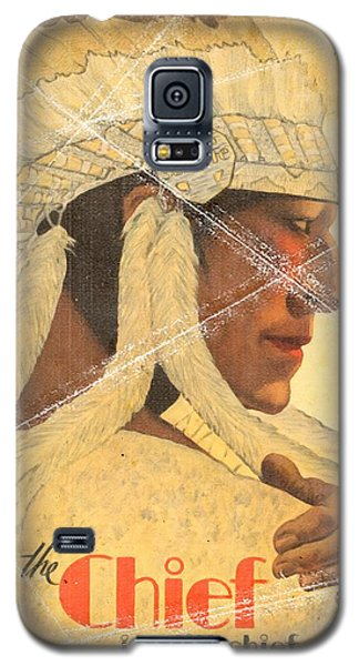 The Chief Train - Vintage Poster Folded Galaxy S5 Case