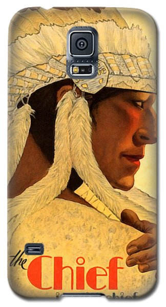 The Chief Train - Vintage Poster Restored Galaxy S5 Case