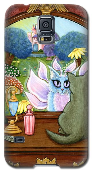 Galaxy S5 Case featuring the painting The Chimera Vanity - Fantasy World by Carrie Hawks