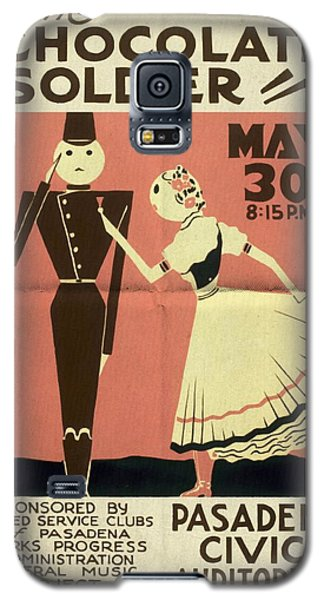 The Chocolate Soldier - Vintage Poster Folded Galaxy S5 Case