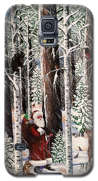 The Christmas Forest Visitor Galaxy S5 Case