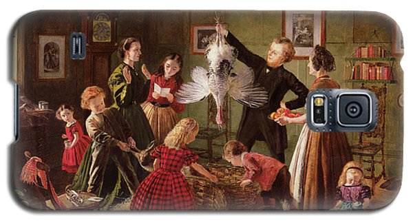Geese Galaxy S5 Case - The Christmas Hamper by Robert Braithwaite Martineau