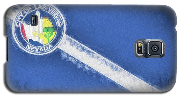 Galaxy S5 Case featuring the digital art The City Flag Of Las Vegas by JC Findley