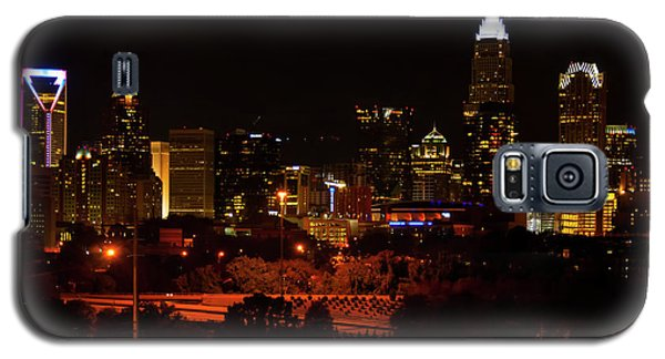 Galaxy S5 Case featuring the digital art The City Of Charlotte Nc At Night by Chris Flees