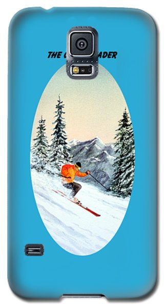 Galaxy S5 Case featuring the painting The Clear Leader Skiing by Bill Holkham
