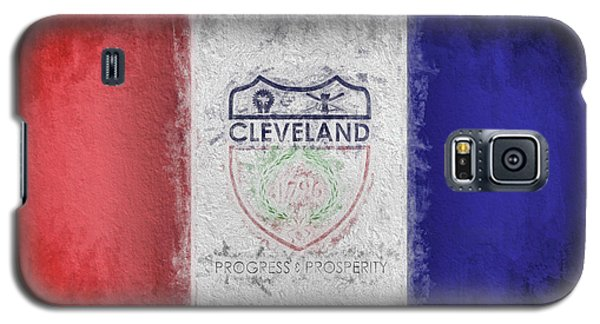 Galaxy S5 Case featuring the digital art The Cleveland City Flag by JC Findley