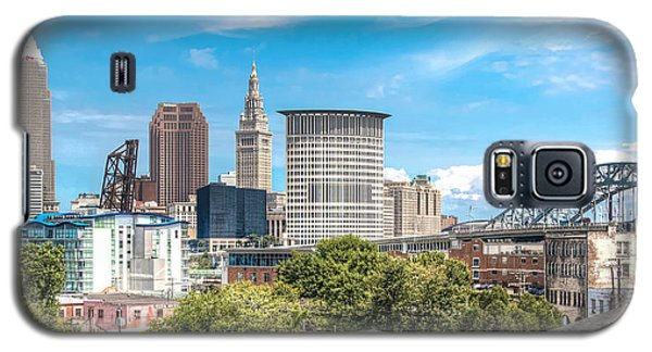 Galaxy S5 Case featuring the photograph The Cleveland Skyline by Brent Durken