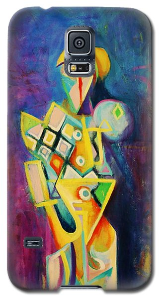 Galaxy S5 Case featuring the painting The Clown by Kim Gauge