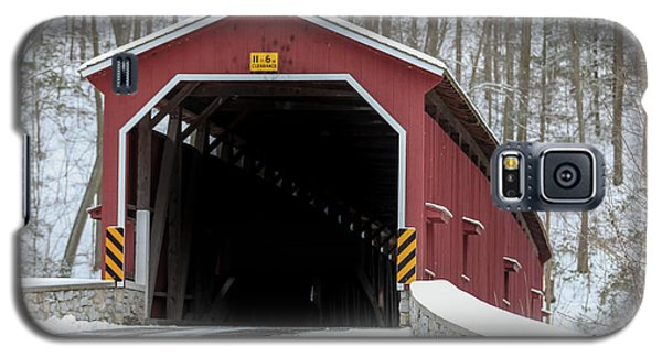 The Colemansville Covered Bridge In Winter Galaxy S5 Case