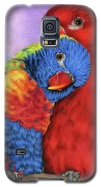Parakeet Galaxy S5 Case - The Color Of Love by Sarah Batalka