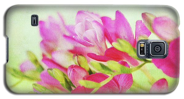 Galaxy S5 Case featuring the photograph Colour Full Freesia by Connie Handscomb