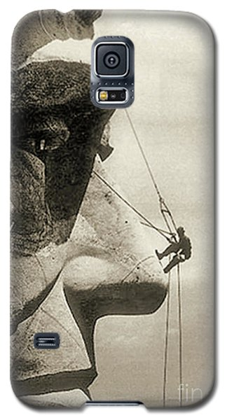 The Construction Of The Mount Rushmore National Memorial, Detail Of Abraham Lincoln,1928  Galaxy S5 Case by American School