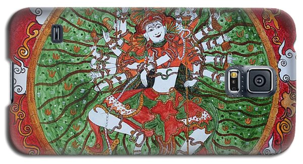 Galaxy S5 Case featuring the painting The Cosmic Dancer by Saranya Haridasan