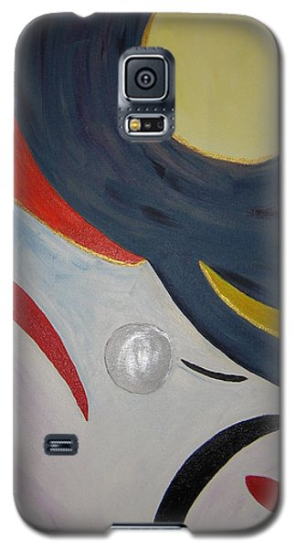 Galaxy S5 Case featuring the painting The Cosmos by Barbara Yearty