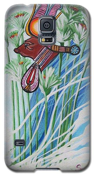 Blaa Kattproduksjoner           The Cow Goddess - Hathor Galaxy S5 Case