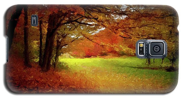 Galaxy S5 Case featuring the painting The Crimson Season P D P by David Dehner
