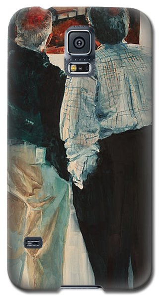 Galaxy S5 Case featuring the painting The Critique II by Elizabeth Carr