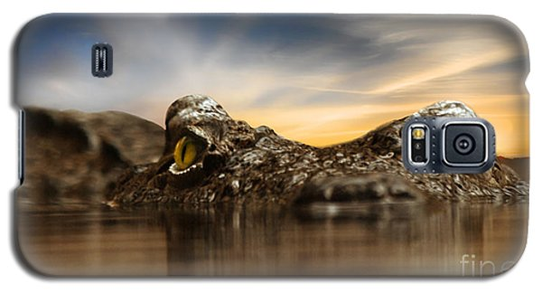 Galaxy S5 Case featuring the photograph The Crocodile by Christine Sponchia