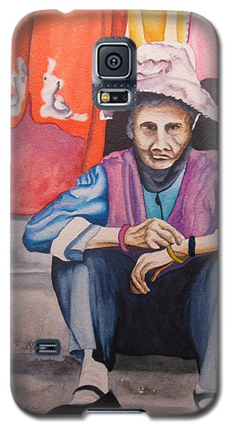 Galaxy S5 Case featuring the painting The Crone by Teresa Beyer