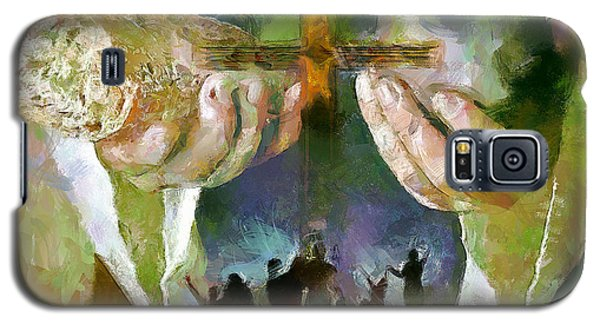 The Cross And The Feast Galaxy S5 Case by Wayne Pascall