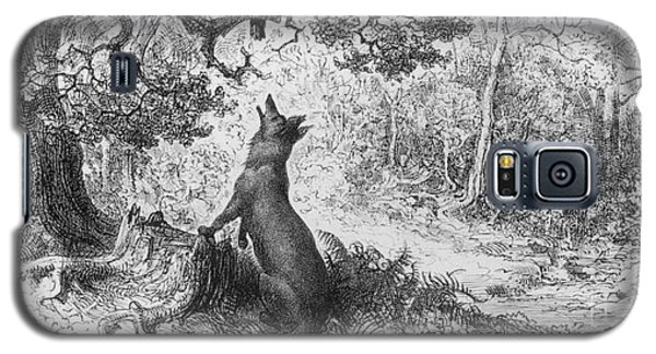 The Crow And The Fox Galaxy S5 Case by Gustave Dore