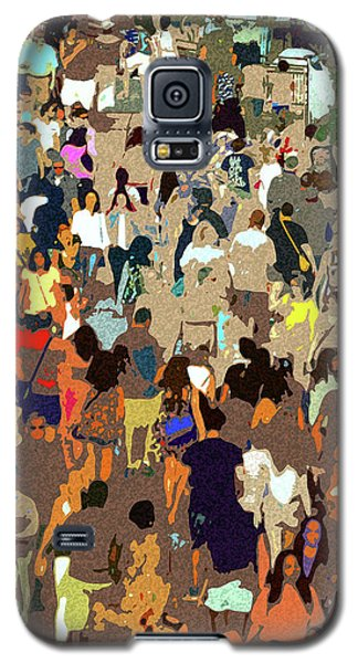 Galaxy S5 Case featuring the painting The Crowd by David Lee Thompson