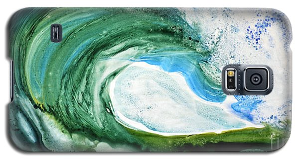 Galaxy S5 Case featuring the painting The Curl by Joan Hartenstein