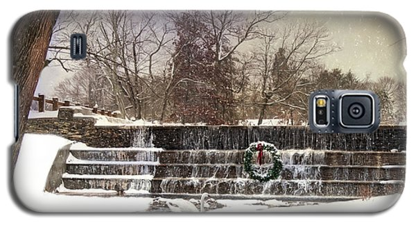 Galaxy S5 Case featuring the photograph The Dam At Christmas by Robin-lee Vieira