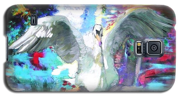Galaxy S5 Case featuring the painting The Dance Of The Swan by Marie-Line Vasseur