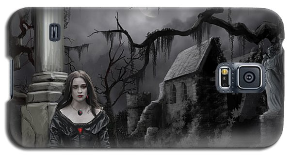 Galaxy S5 Case featuring the painting The Dark Caster Awaits by James Christopher Hill