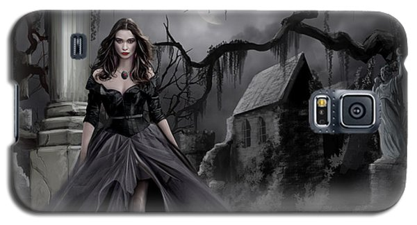 Galaxy S5 Case featuring the painting The Dark Caster Comes by James Christopher Hill