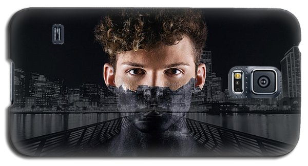 Galaxy S5 Case featuring the digital art The Dark Side Of A City Boy by ISAW Company