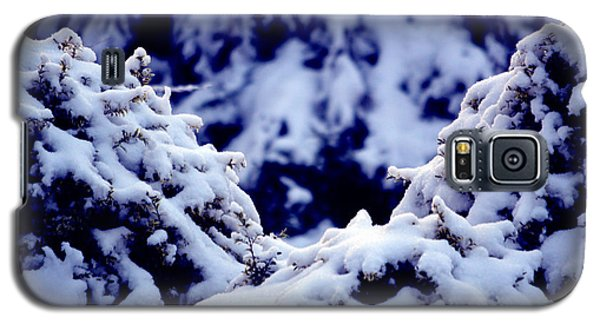 Galaxy S5 Case featuring the photograph The Deep Blue - Winter Wonderland In Switzerland by Susanne Van Hulst