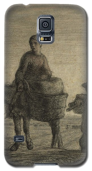 The Departure For Work Galaxy S5 Case by Jean-Francois Millet