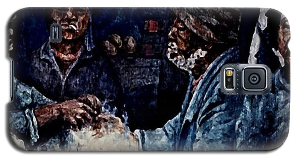 Galaxy S5 Case featuring the painting The  Desolation Of Poverty by Hartmut Jager