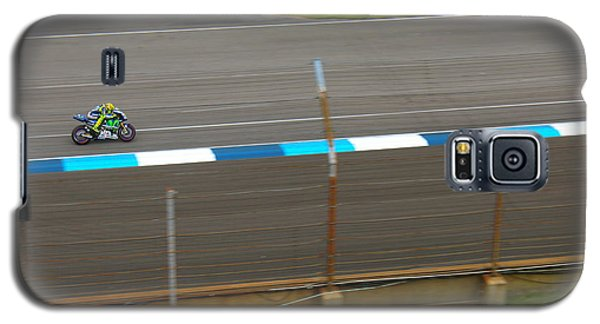 The Doctor At Indy  Valentino Rossi  Galaxy S5 Case by Iconic Images Art Gallery David Pucciarelli