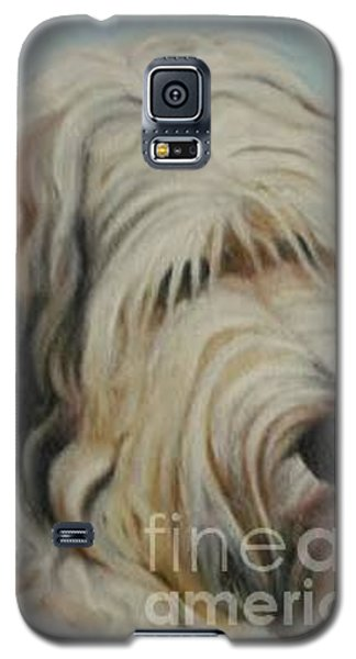 Galaxy S5 Case featuring the painting The Dog by Sorin Apostolescu