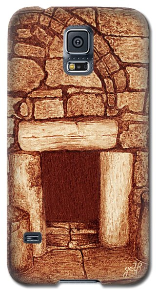 Galaxy S5 Case featuring the painting The Door Of Humility At The Church Of The Nativity Bethlehem by Georgeta Blanaru