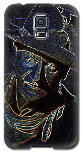Galaxy S5 Case featuring the mixed media The Duke by Charles Shoup
